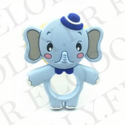 elephant silicone bleu