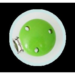 Clip bois vert pomme