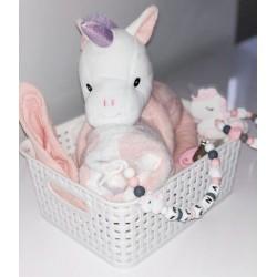 Coffret naissance personnalisable Licorne