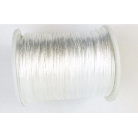 Fil nylon satiné  - Blanc (1 mètre)