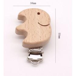 Clip éléphant bois