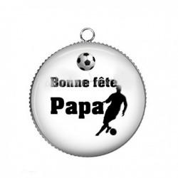 Cabochon argent -Bonne fête Papa