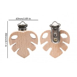 Clip feuille en bois d'hêtre