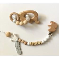 Ensemble anneau de dentition, attache Elephant