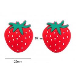 Perle fraise silicone