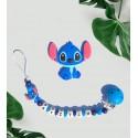 Attache tétine personnalisé Stitch et son anneau