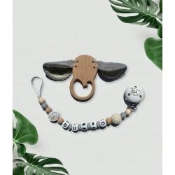 Duo Attache tétine Dumbo et anneau Eléphant