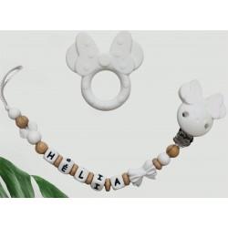 Ensemble anneau de dentition, attache LION brun