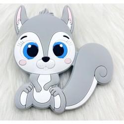 Ecureuil en silicone - gris